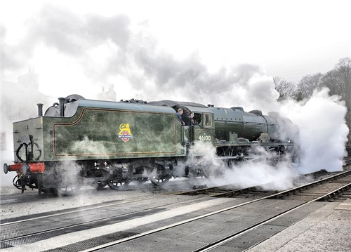 Royal Scot Blowing Off Steam