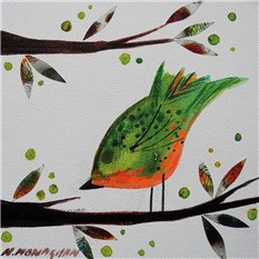 Orange and Green Bird
