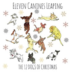Eleven Canines Leaping