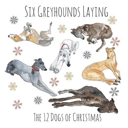 Six Greyhounds Laying