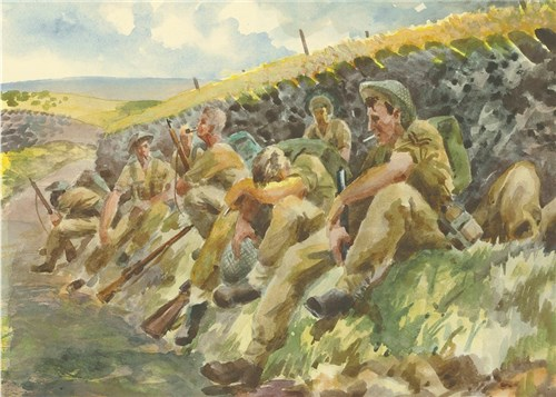 East of Cruelly. British infantry resting