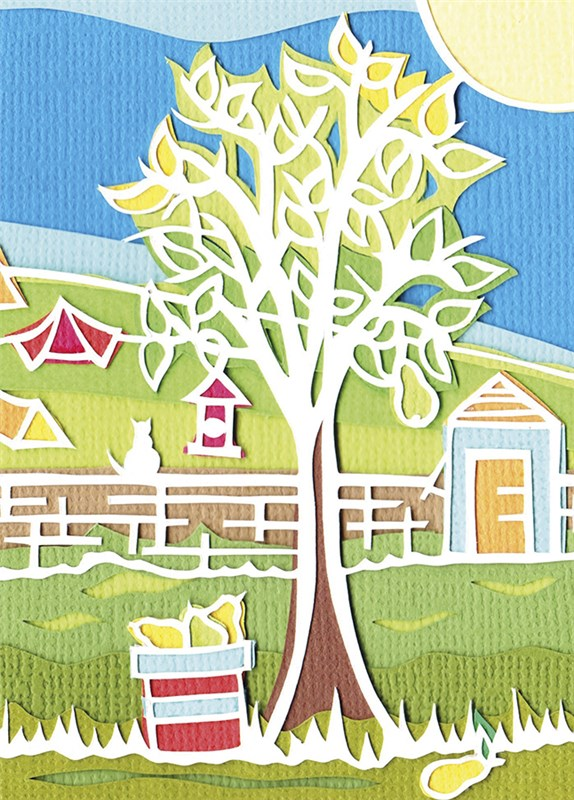 Greeting card collections sarah king pear tree natural pear tree m4hsunfo
